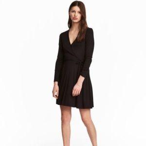 H&M Simple Black Wrap Dress